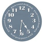 First Round Draft Pick Wall Clock