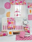 Millie 3Pc Set (Includes quilt, pink dot sheet, crib skirt)