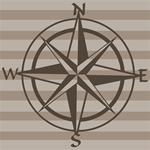 "Fly-By Wall Decal - Compass (23x23"")"