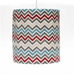 "Happy Trails Hanging Drum Shade - Chevron (14Wx16""T) 60 Watt  15' Cord"