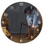 Cowboy Painted Clock