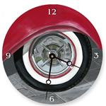White Wall Tire Painted Clock
