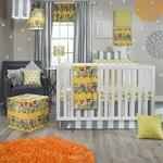 Lil Hoot 3Pc Set (Quilt, Dot sheet, Crib Skirt)