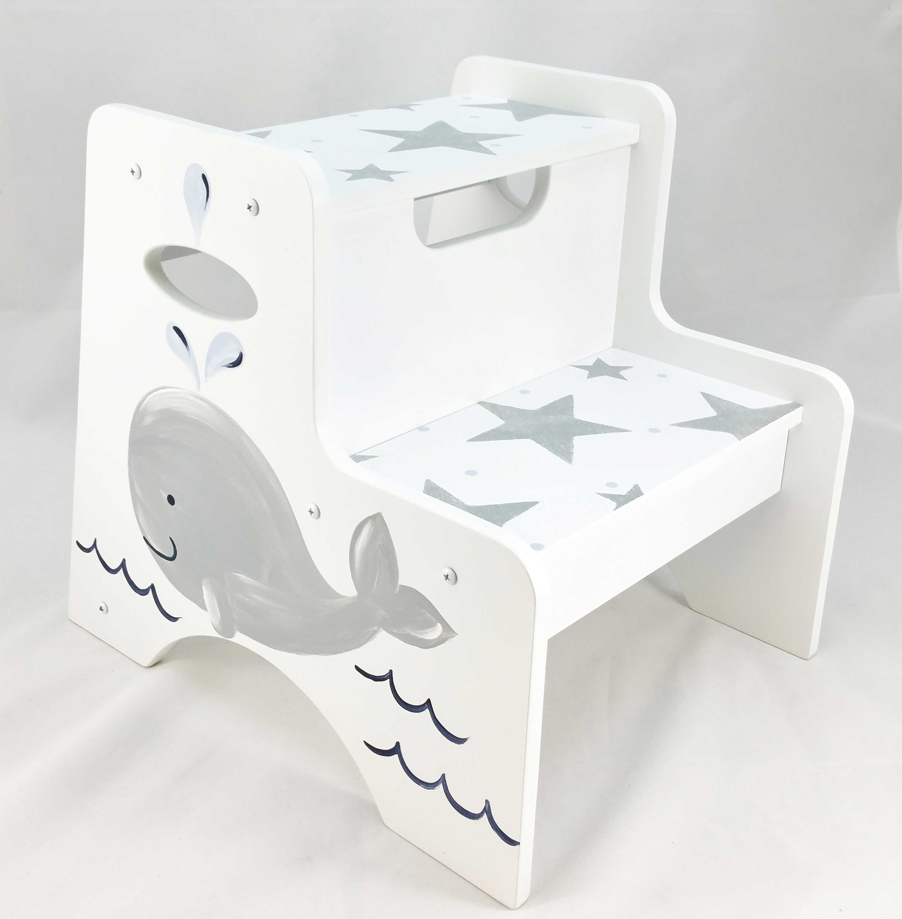 Double Step Stool with Whale & Double Step Stool with Whale - Purple Pumpkin Gifts islam-shia.org