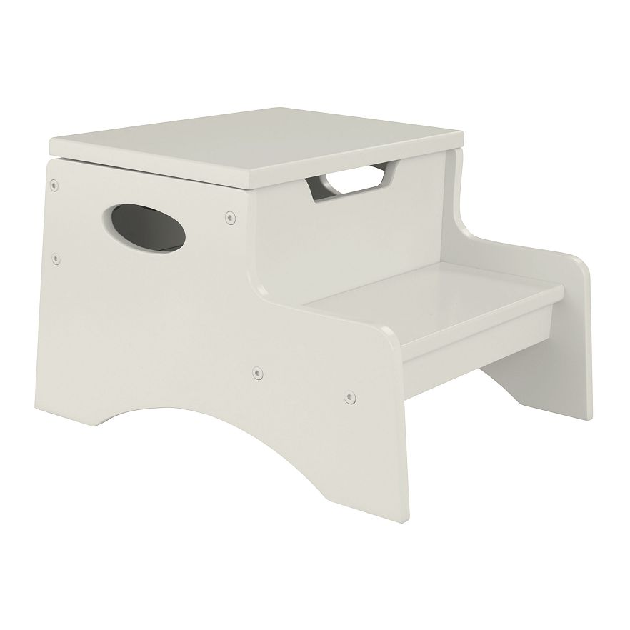 Double Step Stool With Storage Purple Pumpkin Gifts