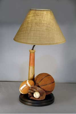 Amazing Vintage All Sports Lamp View Full Size
