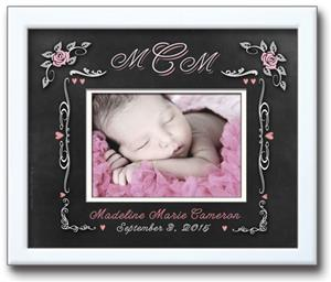Personalized Photo Frame - Chalkboard Rose