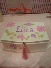 Classic Rectangular Jewelry Box - bright floral