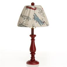 "Fly-By Lamp - Red Base with Airplane Shade (9x12x24"") (60W)"