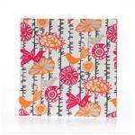 "Calliope Wall Art - Bird Print (14x14x1.5"") fabric covered canvas"