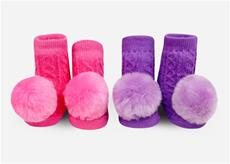 Pom Pom Rattle Sock Set Purple