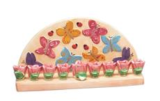 Butterfly Menorah - Cream