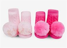 Pom Pom Rattle Sock Set Pink
