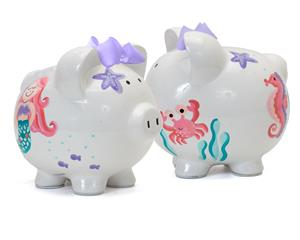 Mermaid Personalized Piggy Bank