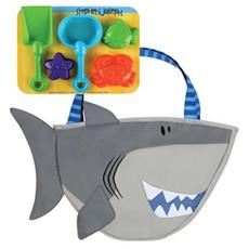Shark Beach Toy Tote