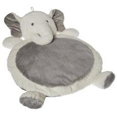 Grey and White Elephant Baby Mat