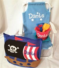 Personalized Kids Beach Chair Package