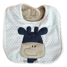 Applique Bib - Giraffe Blue