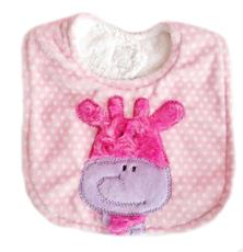 Applique Bib - Giraffe Pink