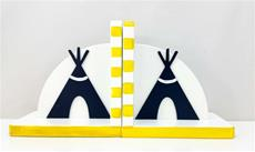 Hand Painted Bookends Teepees