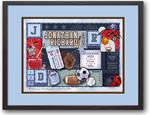 Baby Patchwork Sports Primary Birth Announcement