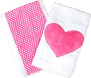 Heart Burps with Hot Pink Dots