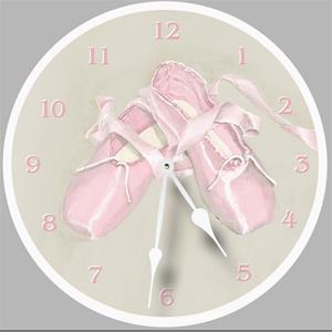 Ballet Shoes Painted Clock