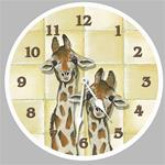 Giraffe  Painted Clock