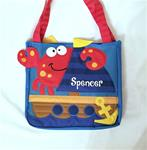 Crab Beach Toy Tote