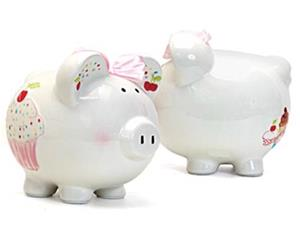 Cupcake Personalized Piggy Bank