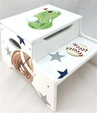 Double Step Stool Storage - Custom Sports Golf
