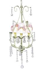 3 Arm Pear Chandelier with Shades