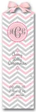 Pink and Grey Chevron Growth Chart