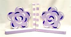 Lavender Fun Flower Bookends