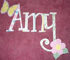 Connected Letters - Amy's Butterfly Garden