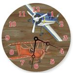 Airplane Painted Clock