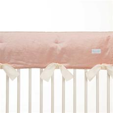 Anastasia Cream Crib Rail Protector - Short Set