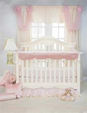Anastasia Cream Crib Rail Protector - Long Set
