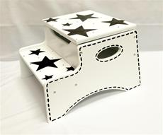 Double Step Stool Storage - Stars and Stitching