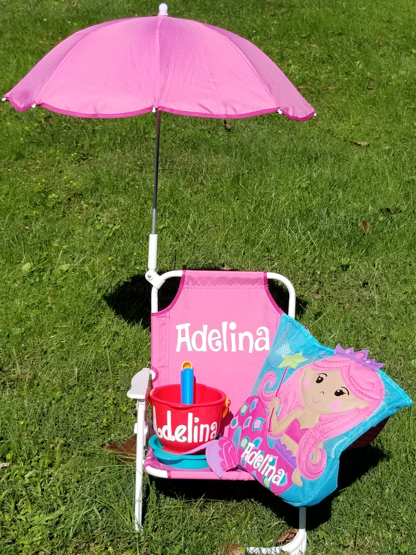 Personalized Kids Beach Chair Package Purple Pumpkin Gifts