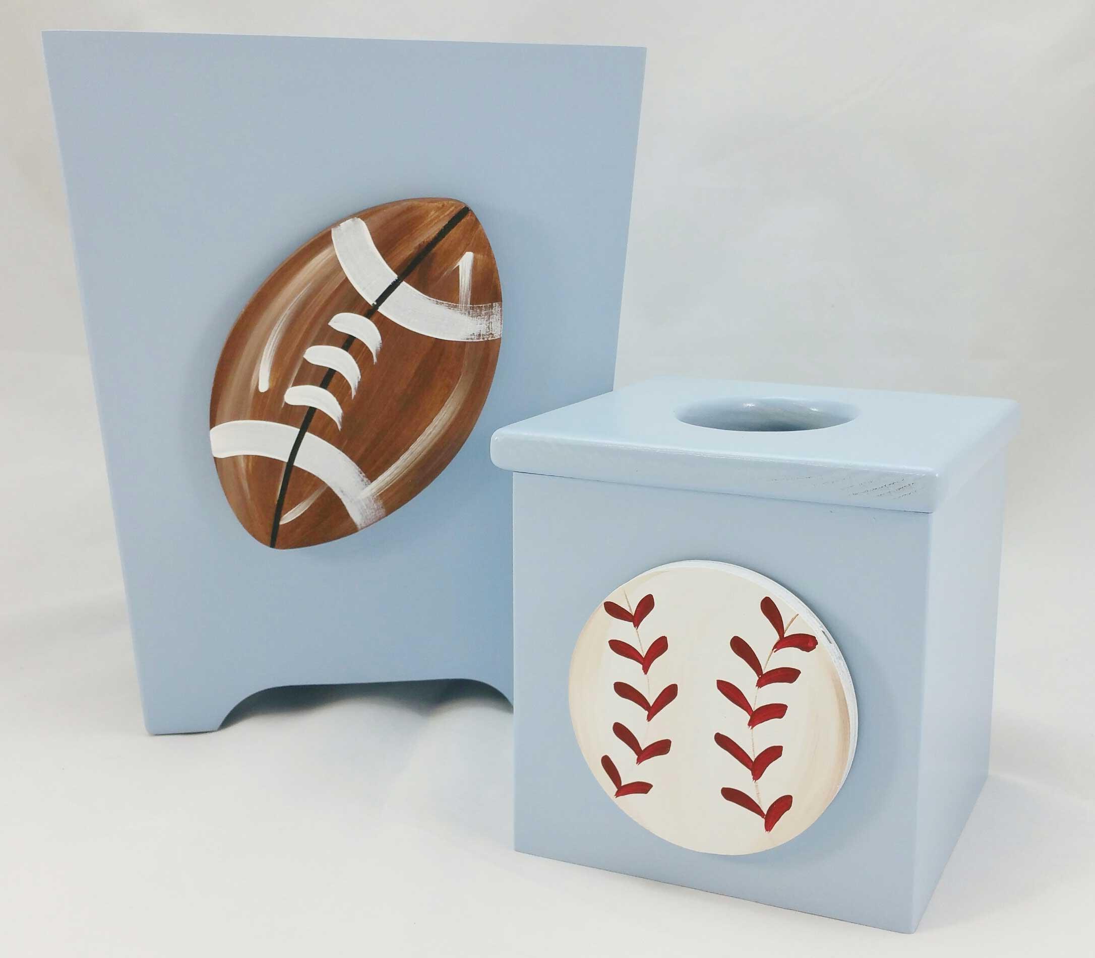 Baseball Tissue Cover Purple Pumpkin Gifts