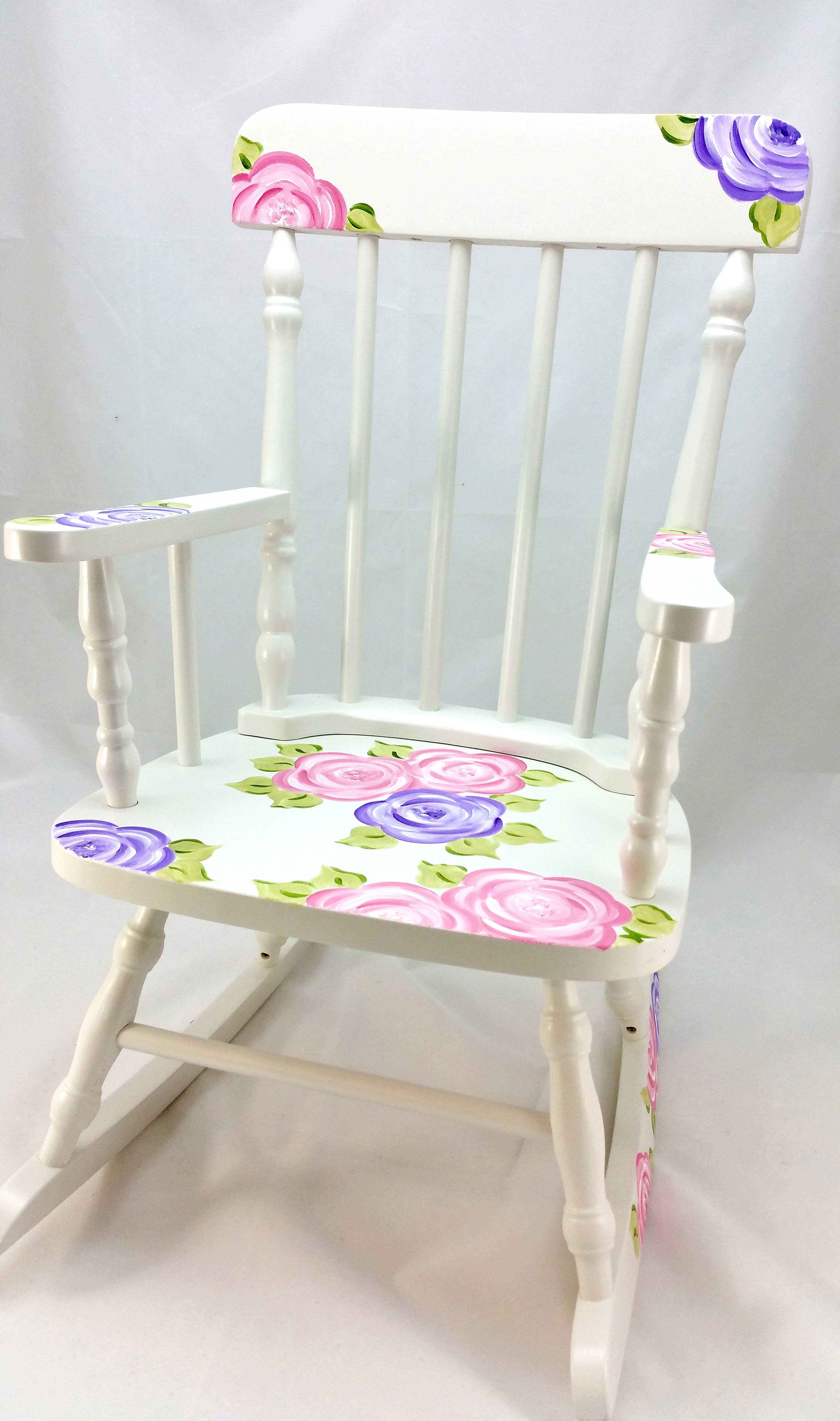 Fantastic Mod Roses Personalized Rocking Chair Purple Pumpkin Gifts Lamtechconsult Wood Chair Design Ideas Lamtechconsultcom