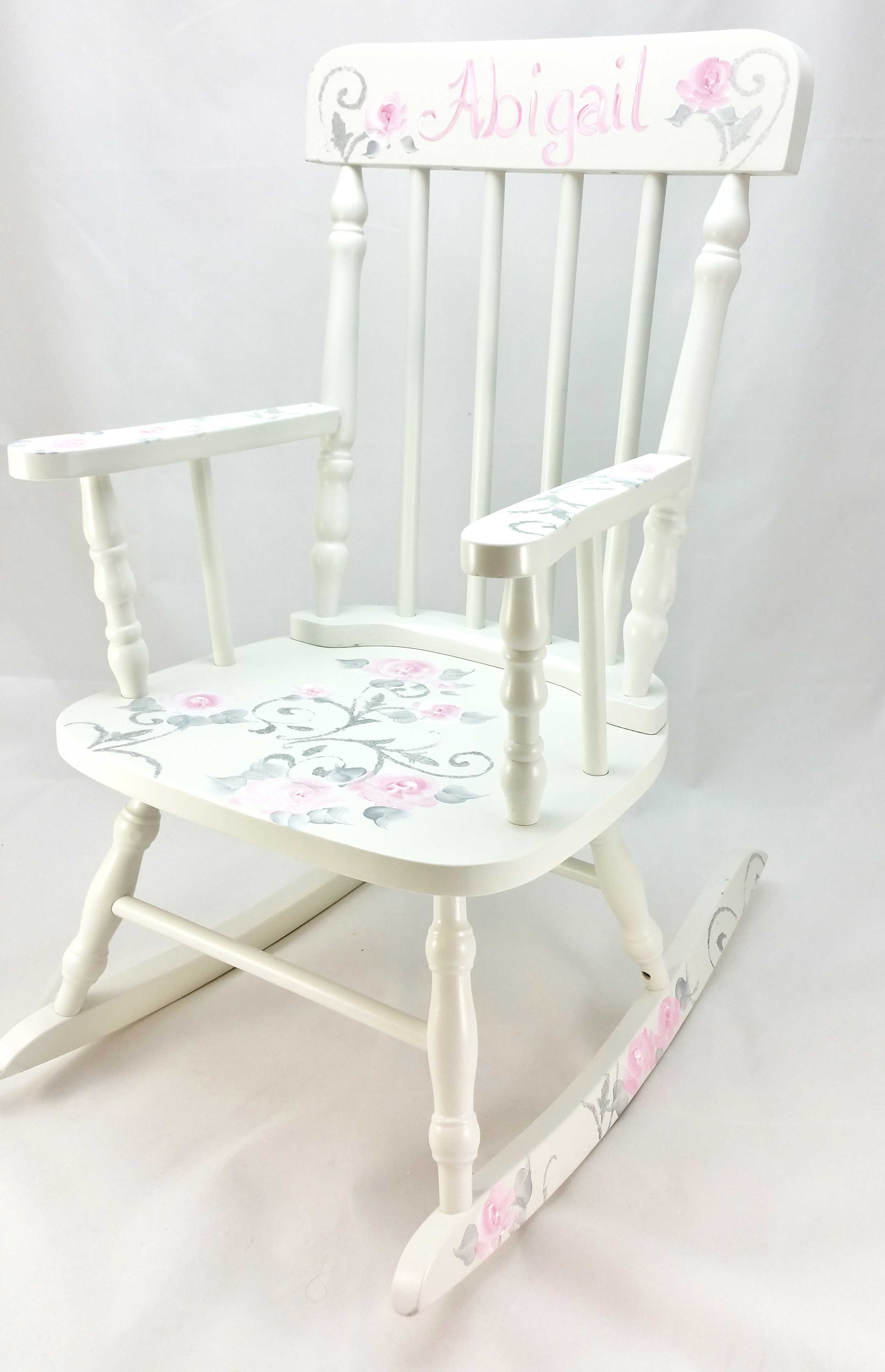 Picture of: Damask And Roses Personalized Rocking Chair Purple Pumpkin Gifts