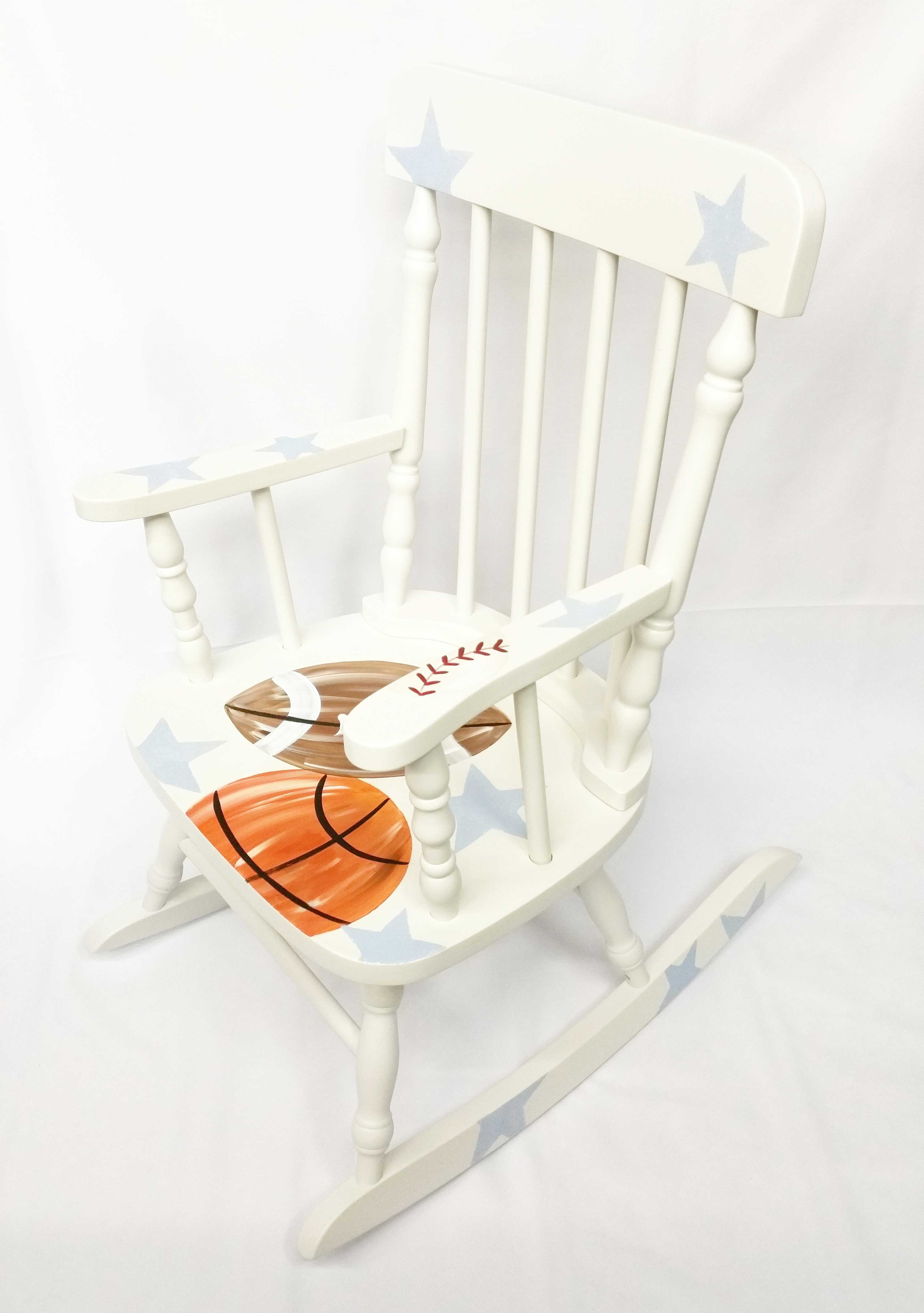 Custom Sports Personalized Rocking Chair Purple Pumpkin Gifts